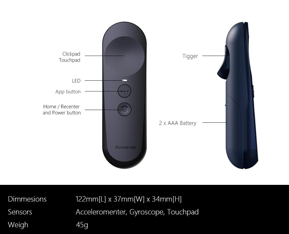 Original Ximmerse 2019 New Design 3 Dof VR Controller AR Headset