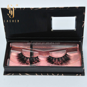 2016 popular private lashes box natual mink blink lashes strip