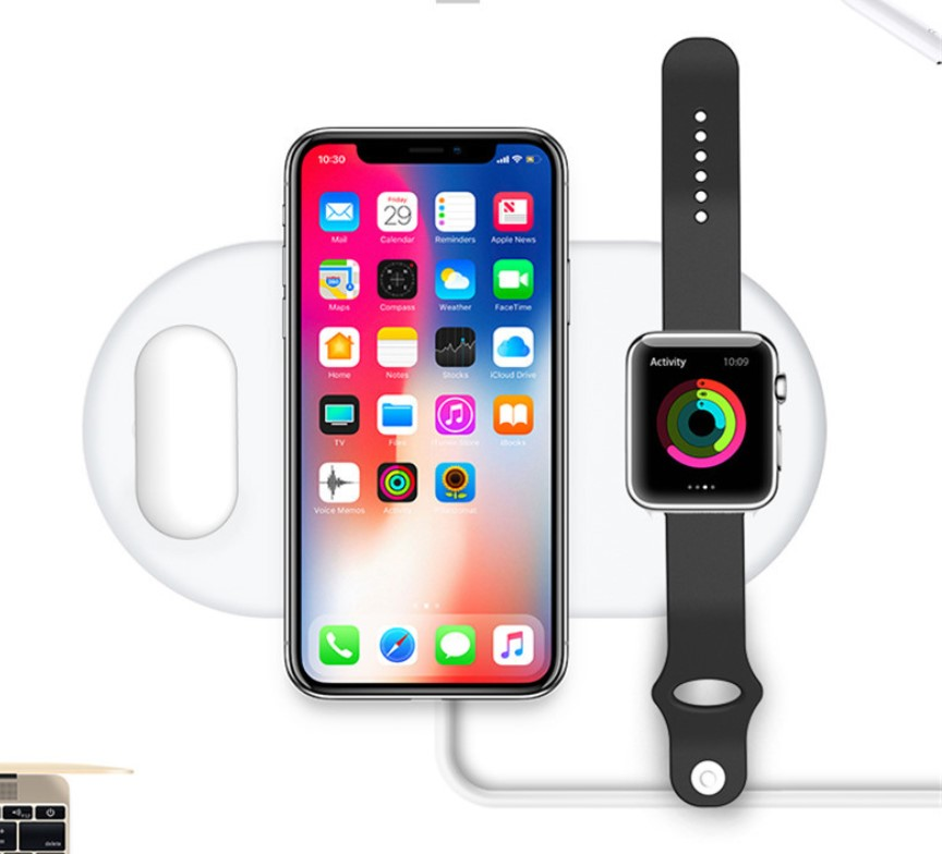 3 in 1 QI caricatore senza fili 7.5 w per airpods iwatch iphone