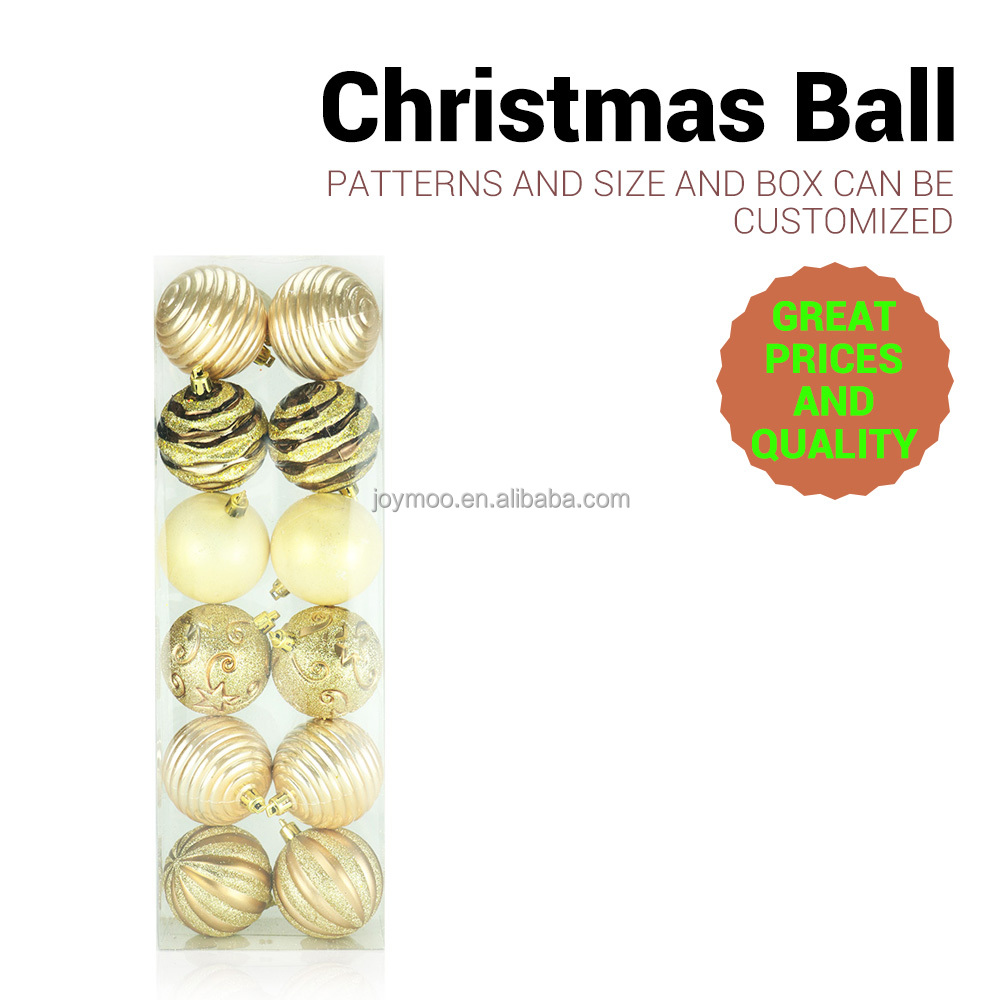 Plastic wholesale shatterproof Colorful Party Celebration Ball Christmas Decoration
