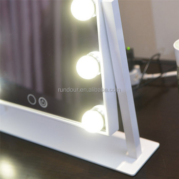 Hollywood Style Makeup Cosmetic Mirrors Lighted Vanity Mirror With 12 X 3w Dimmable Led Bulbs And Touch Control Design