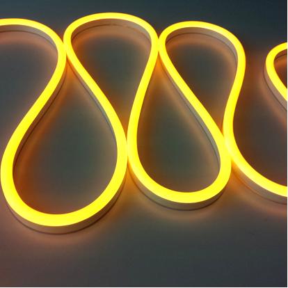 golden yellow lemon yellow led neon flex tube light custom neon light
