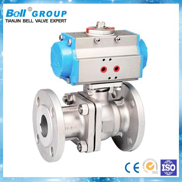 Three pieces type pneumatic fast shutdown ball valve