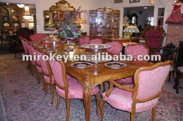 Antiguos muebles de comedor, tradicional de madera juego ...