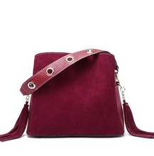 Dreamtop DTD289 tassels fashion crossbody bag cow leather sling bags for women girls
