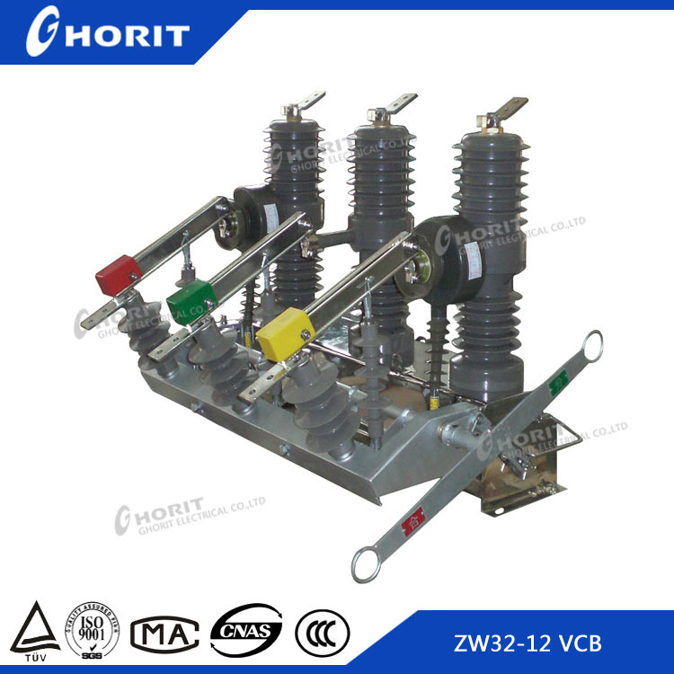 CE ISO9001 1250A 31.5kA Vacuum Circuit breaker Pole Mounted VCB 24KV Outdoor VCB