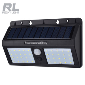 Factory price Solor PIR sensor motion wall light 20LEDs SMD chip solar powered grow lights with 2 yearswarranty