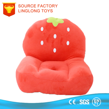 Kind Plüschtier Emoji Stuhl Roter Obst Erdbeere Kind Faul Sofa Buy