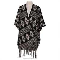 printed cardigan wrap ladies knitting pattern cable knit sweater poncho
