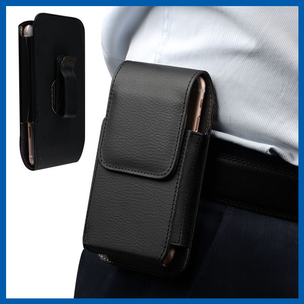 C&T PU Leather Vertical Executive Side Pouch Case Cover Holster with Belt Loop Clip and Magnetic Closure for BlackBerry Priv