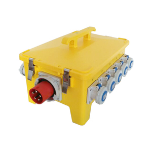 24 Way three phase Portable power distribution box,Yellow Type IP67 Distribution MCB board