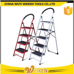 2,3,4,5,6 steps house hold ladder / iron folding step ladder