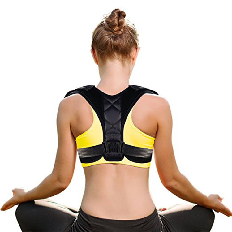 2019 amazon hot new Back Posture Corrector Back Brace fully front adjustable shoulder Back Support, Black/beige or as yours