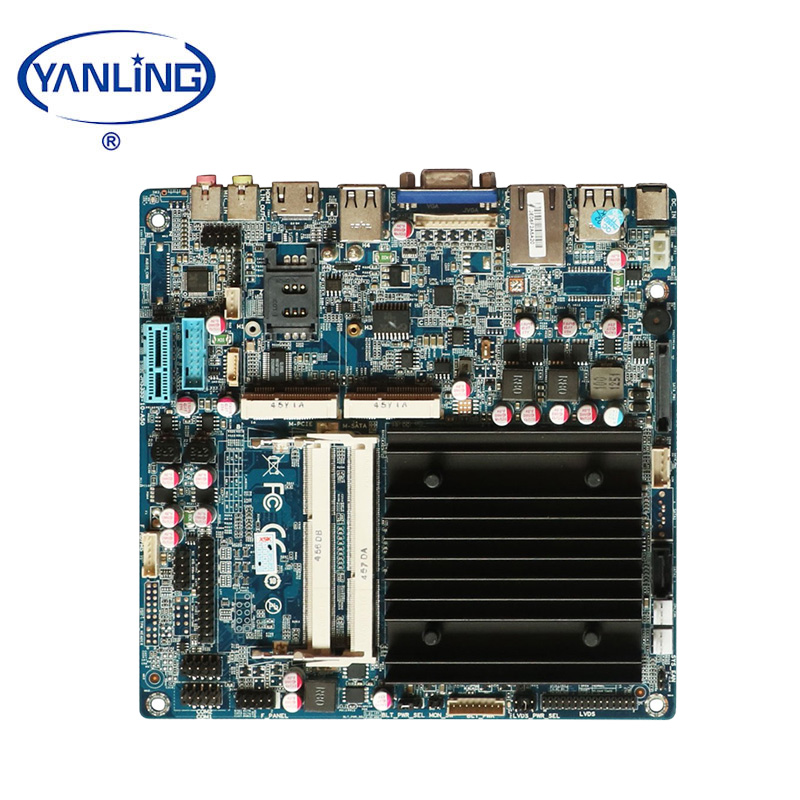 Ultra thin Intel J1900 quad core mini itx motherboard with sim slot
