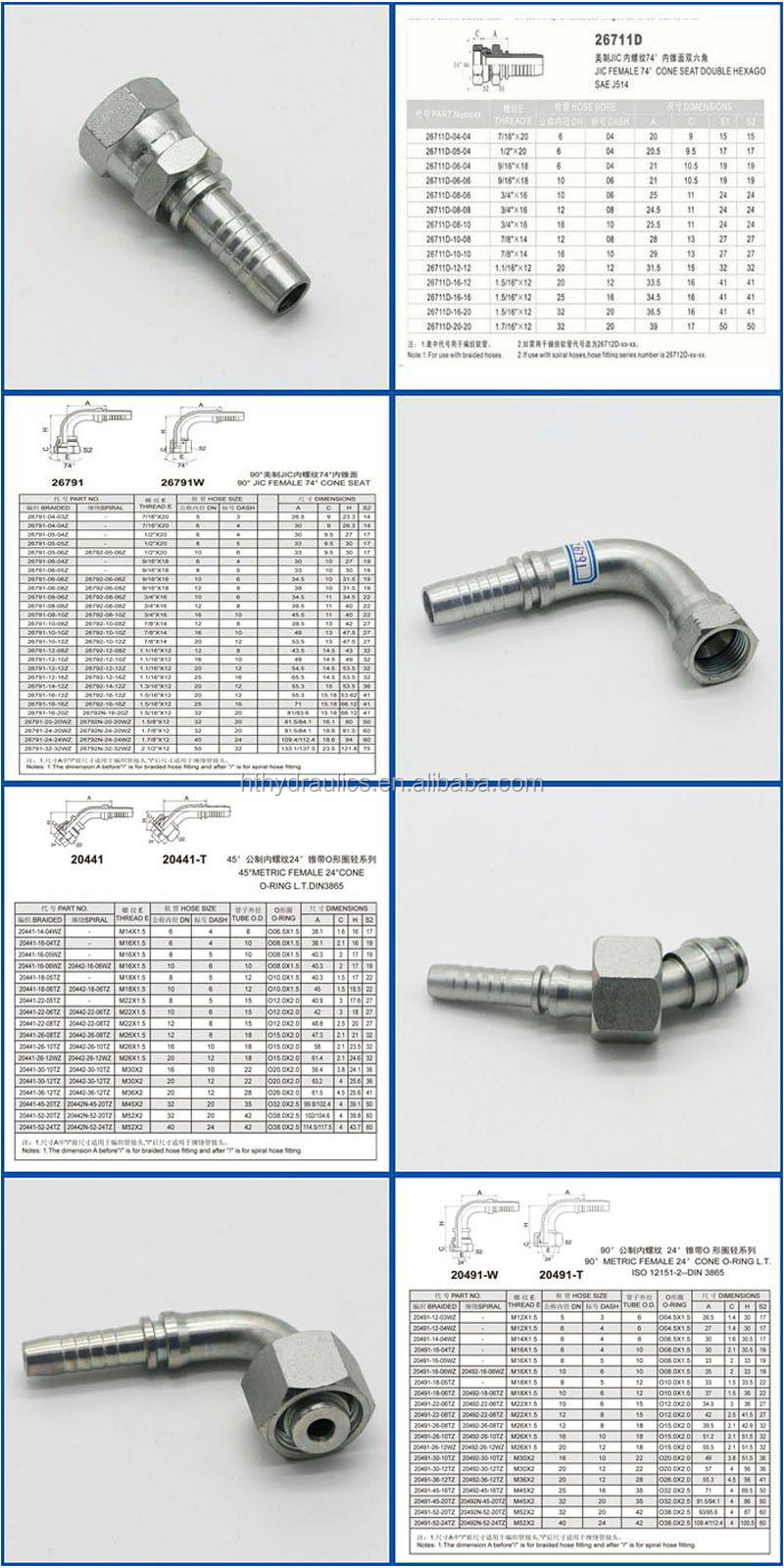 CE High Quality Hydraulic Hose Pipe Fittings by CNC Machine