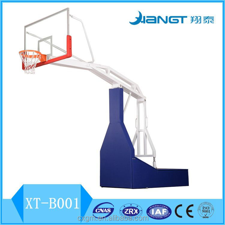 FIBA Standard sports facilities electric hydraulic basketball stand for competition