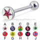 Stainless steel piercing logo tongue straight barbell