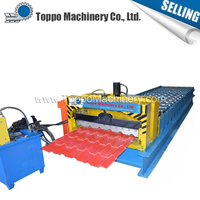 Glazed Color Coated Roofing Sheet Metal Profiling Machine On Sale
