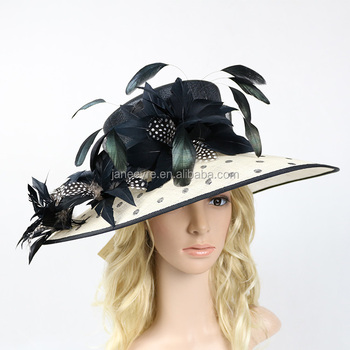 New Design Sinamay Formal Wedding Hat Mother Of The Bride Groom Ascot Races