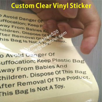 picture regarding Printable Clear Labels known as Custom made Apparent Vinyl Stickers,Very clear Posted Labels,Printable Shiny Clear Adhesive Vinyl Stickers - Acquire Printable Shiny Clear Adhesive