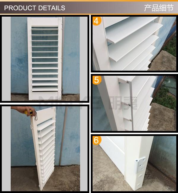 Electric window shutters aluminium louvre blade window - Electric window shutters interior ...