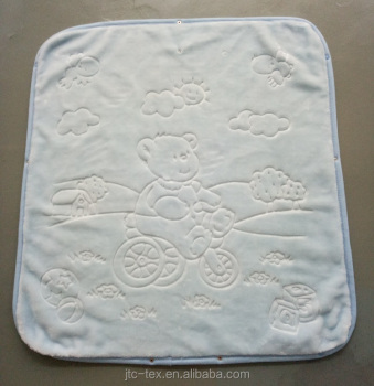 73f9486c8404 Wholesale solid color embossed knitted spanish baby blanket  kids blanket