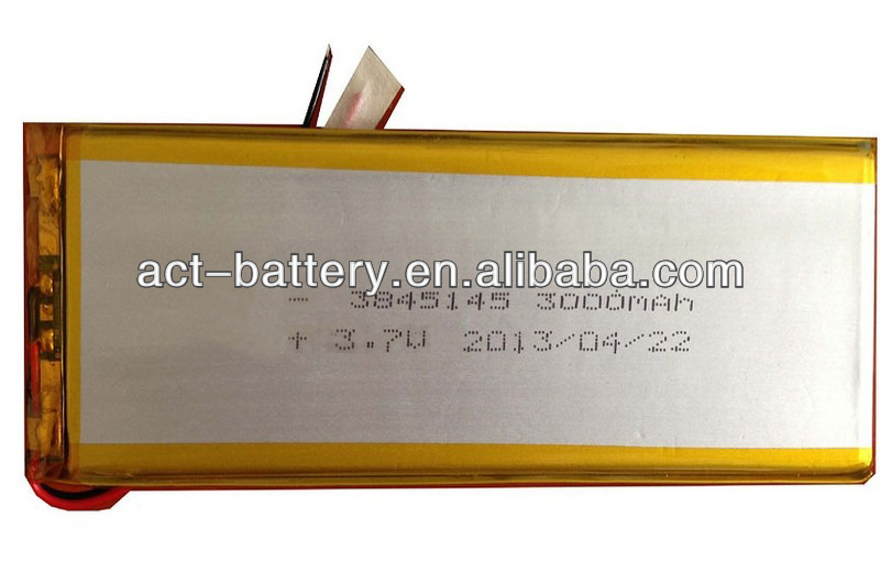 3.7V lipo 3000mAh smartphone external back up battery