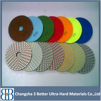 4 Inch 100mm Angle Grinder Resin Diamond Granite Wet Flexible Polishing Pad and Marble Dry Polishing Pad for Stone