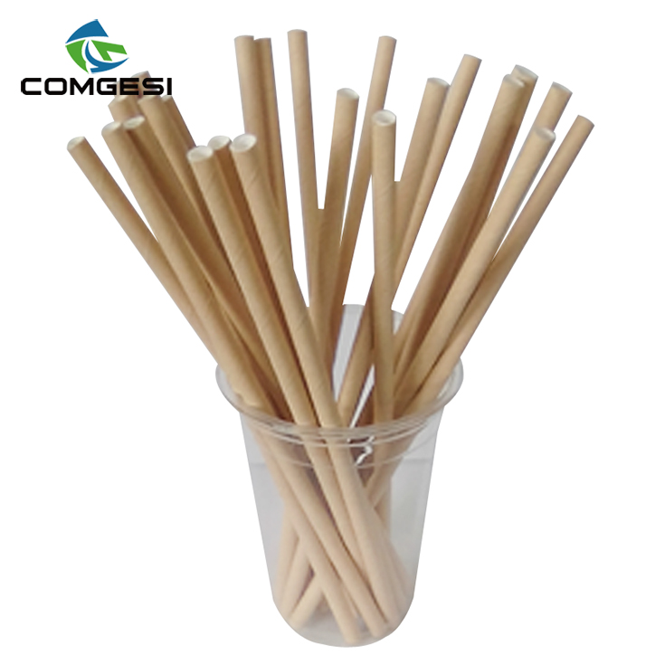 Eco-friendly Bamboo print biodegrable straws 80mm -250mm manufacturer printing with lowest price