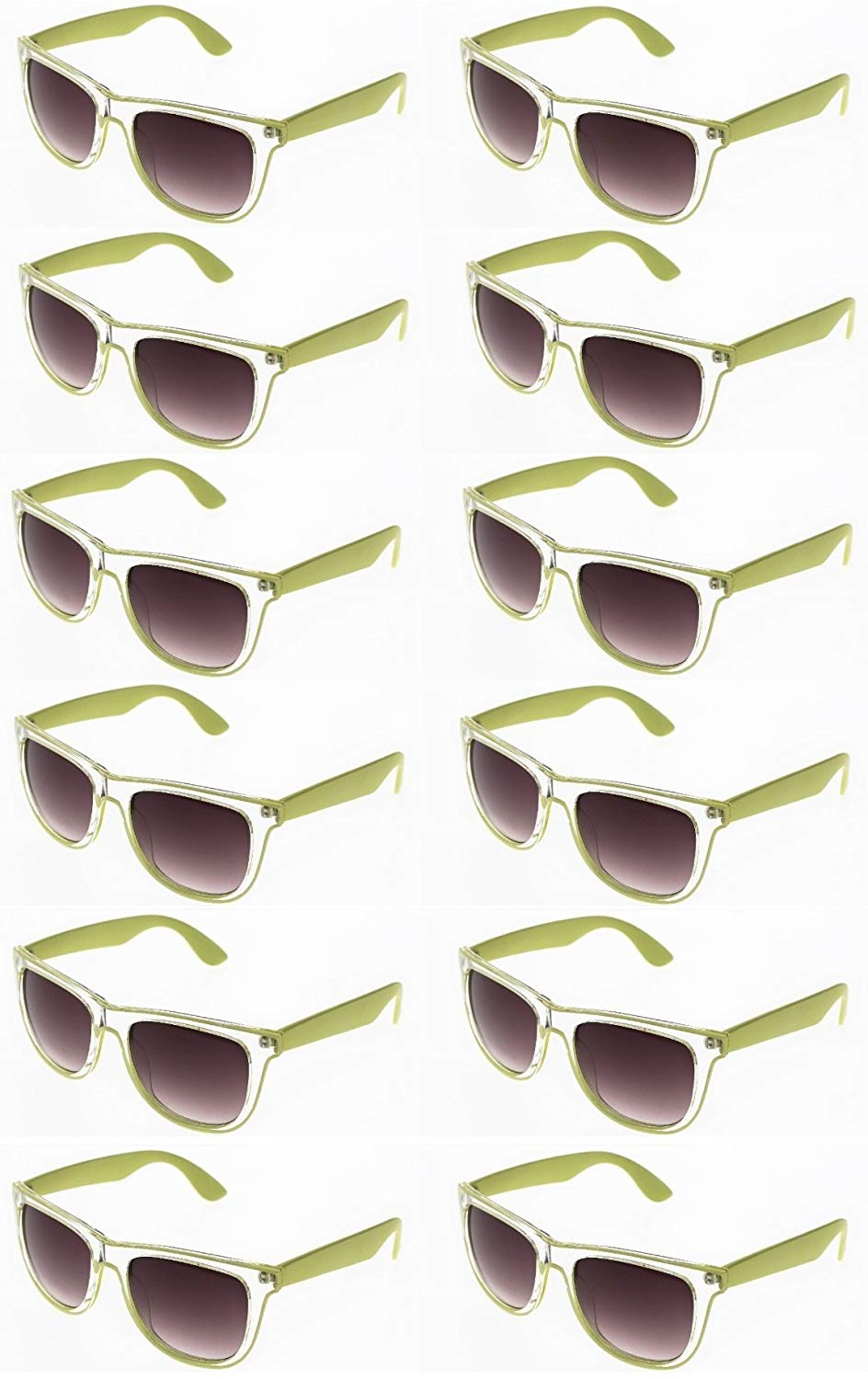 6f682b8298 Get Quotations · CLASSIC 80 s WAYF SUNGLASSES - Retro Translucent Frame Sunglasses  Bulk Pack. Classic Style Sunglasses for