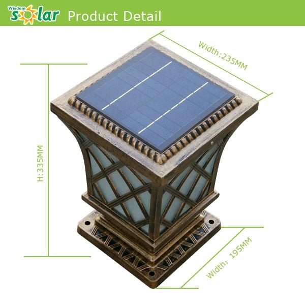 Main Gate Design Home Outdoor Lighting Solar Gate Post