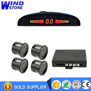 Sensor de Aparcamiento Trasero para Coche Kit de Aparcamiento con Alarma LED Interruptor de 4 sensores