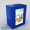Blue Color Square Acrylic/Metal Transparent LCD Panels Showcase Display Cigarette