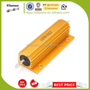 100W Watt Power Aluminum Housed Metal Shell Case Fixed Variable Wirewound Resistor