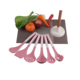 6 pc kitchen utensil pack ladle turner masher spoons cooking tools 5 mini silicone spatula