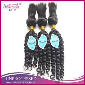 2016 new arrival straight jumbo braid hair real human hair machine made braid in bundles hair weft