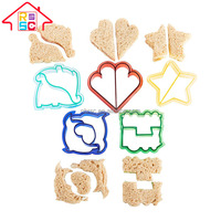 Food Grade Shape Available Fun Cookie Cake Sandwich Cutters for Kids Set of 4/5/6pcs Bread Cake Maker