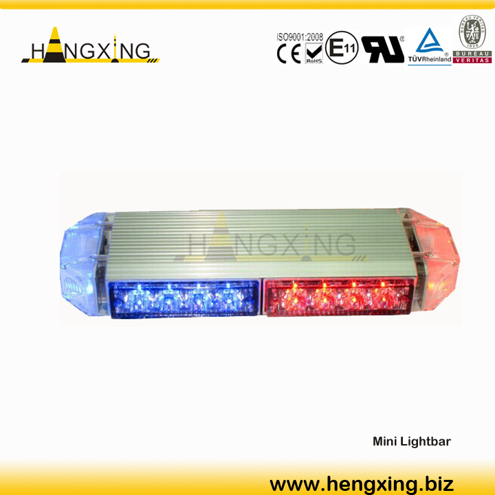 blue and red warning police led car lightbar