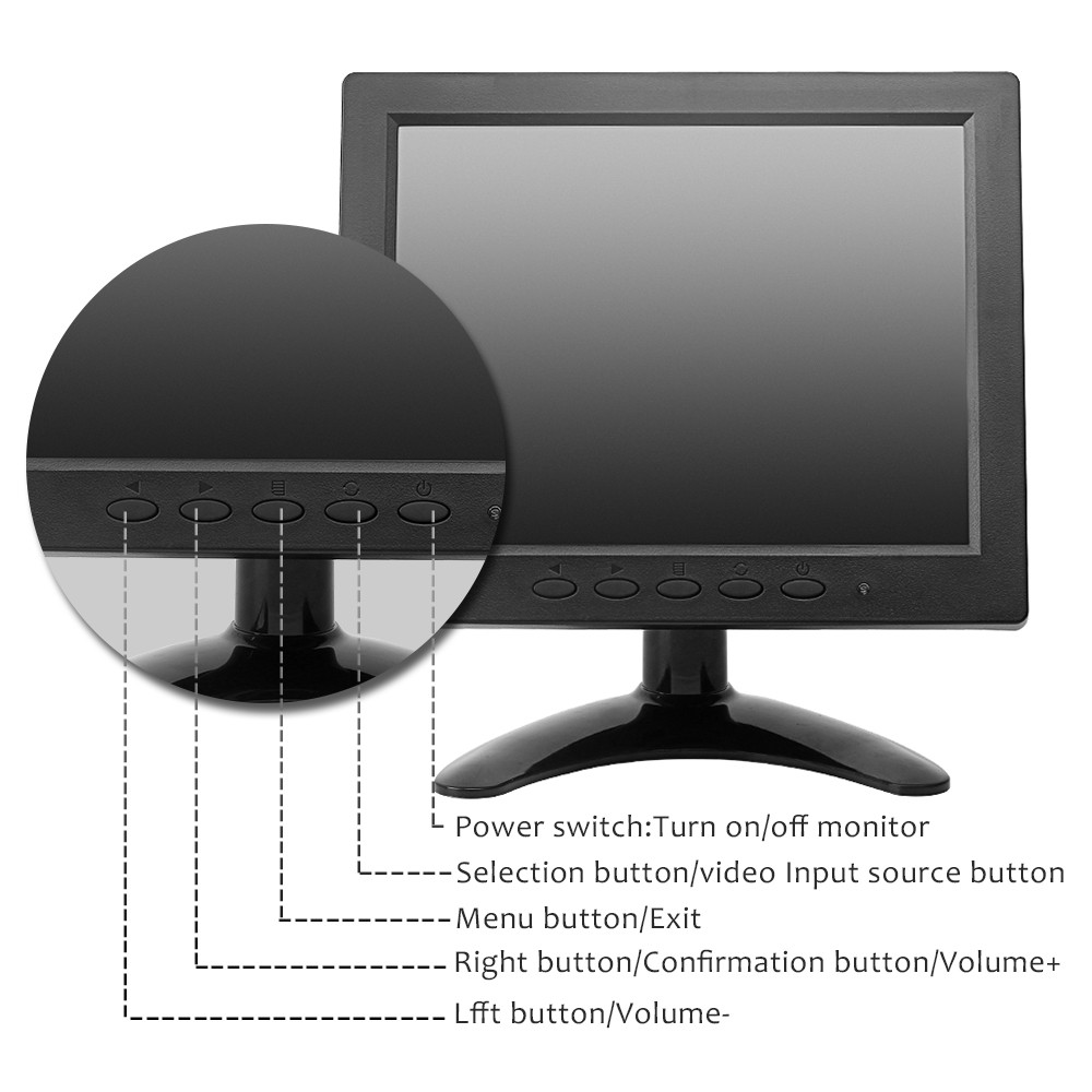 retail 75x75mm VESA mountable lcd monitors