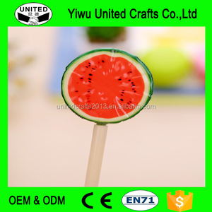Office Ballpoint Pen Creative Cartoon Fruit Plastic Pen For Student Prize