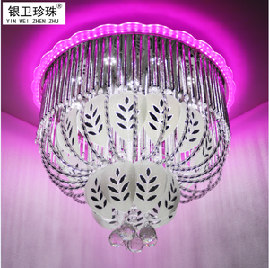 Pink color LED chandelier made in china with RGB,Bluetooth Mp3 room lights
