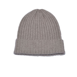 High Quality Plain Winter Men Women Custom Embroidery Own Logo Knitted Merino Wool Beanie Cap Hat