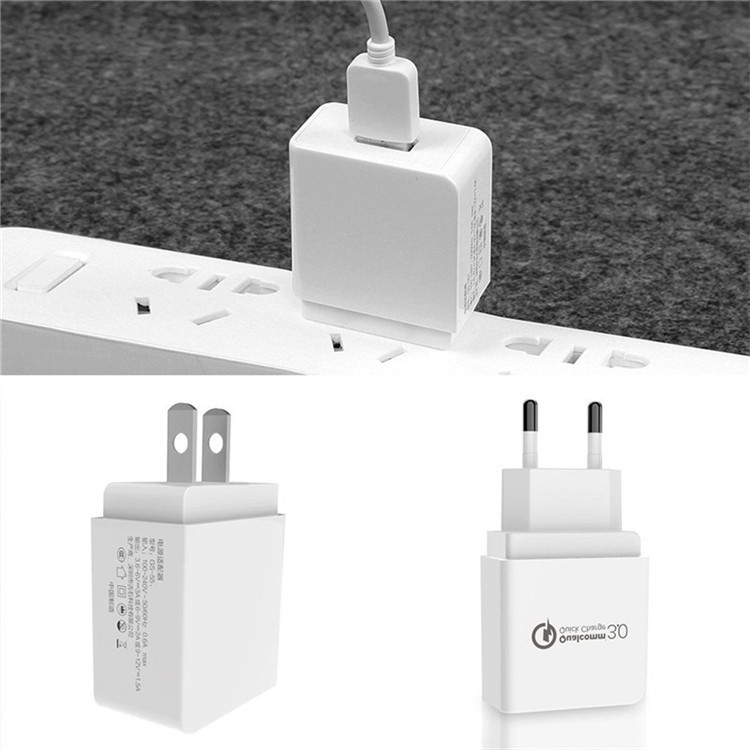 Qualcomm quick charge 3.0 Wall charger 5V 18W PSE CB ETL KC CE FCC USB reizen Telefoon Oplader