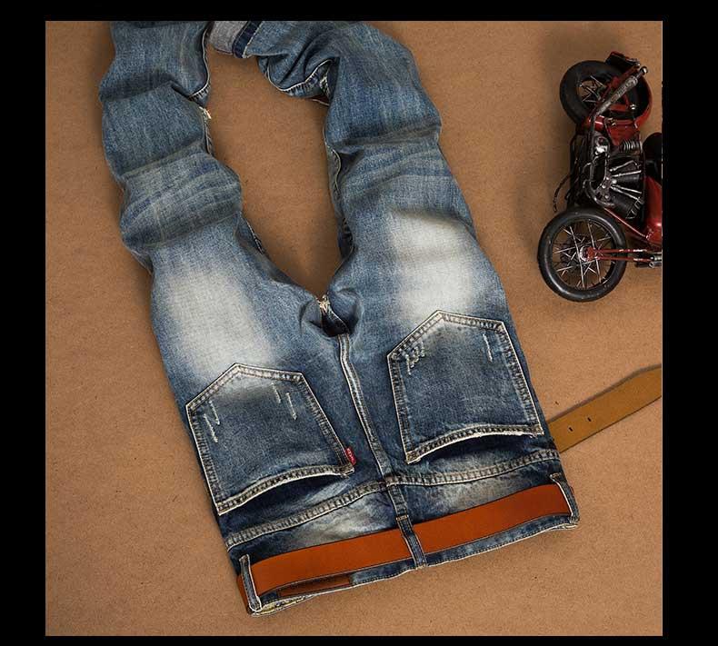 65620dfbe589 2019 Wholesale NEW ARRIVAL Fashion Mens Holes Distressed Biker Jeans ...