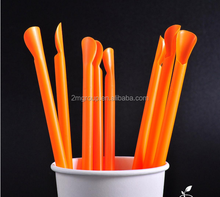 Factory Wholesale PP Plastic Disposable Colorful Large Smoothie Straws