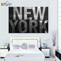 English alphabet theme building picture high quality new york city life print painting