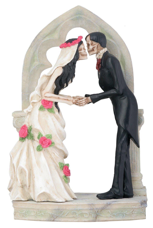 Love Never Dies Wedding Couple At Altar Statue Figurine