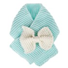 Chunky Toddler Scarf Small Child Hand Knit Bow Scarf