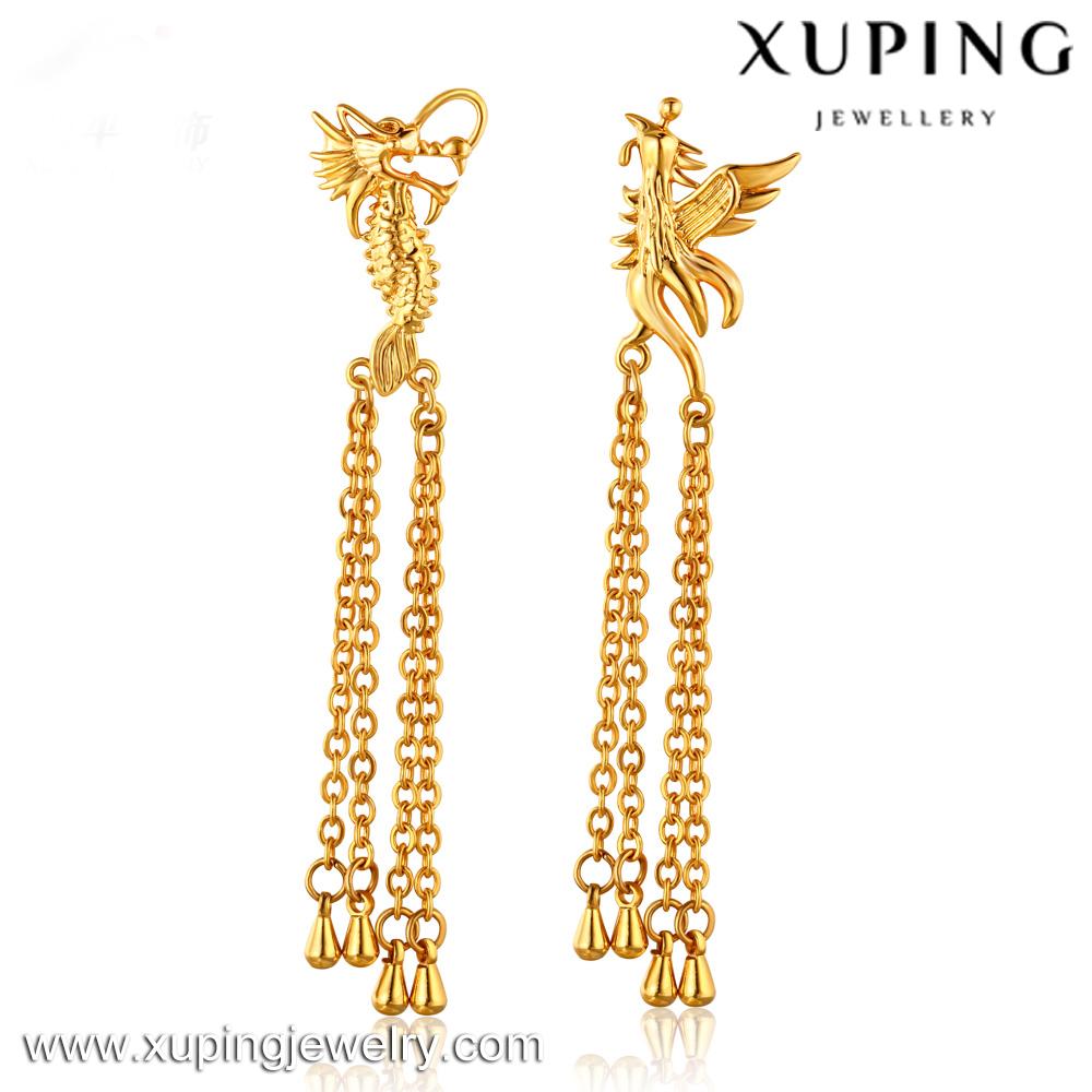 Xl2031 New 2016 Latest Gold Earring Designs Saudi Gold Jewelry ...