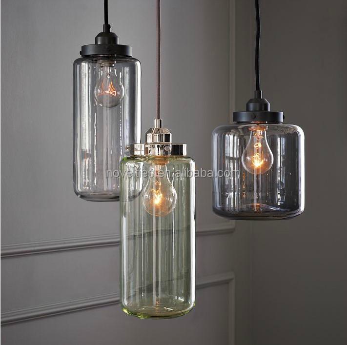 vaso di vetro moderno lampada a sospensione lampada da cucina